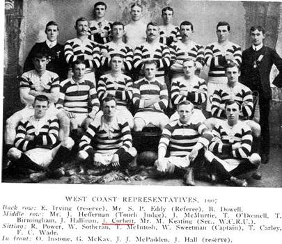 Ring took this photo of the West Coast representative team in 1907