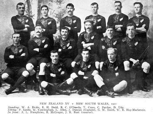 The All Blacks team which played NSW on August 31 included Cross and Drake.